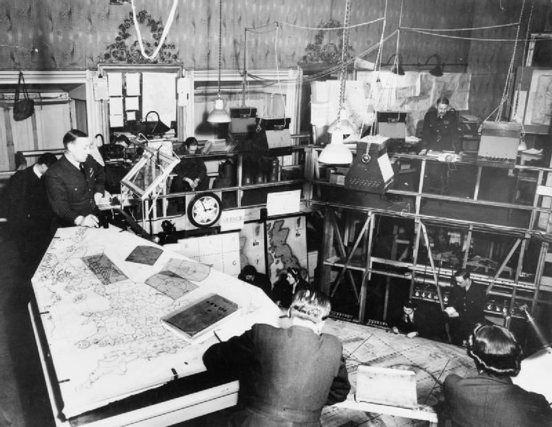 Black and white photograph of RAF Bentley Priory, Headquarters of Fighter Command