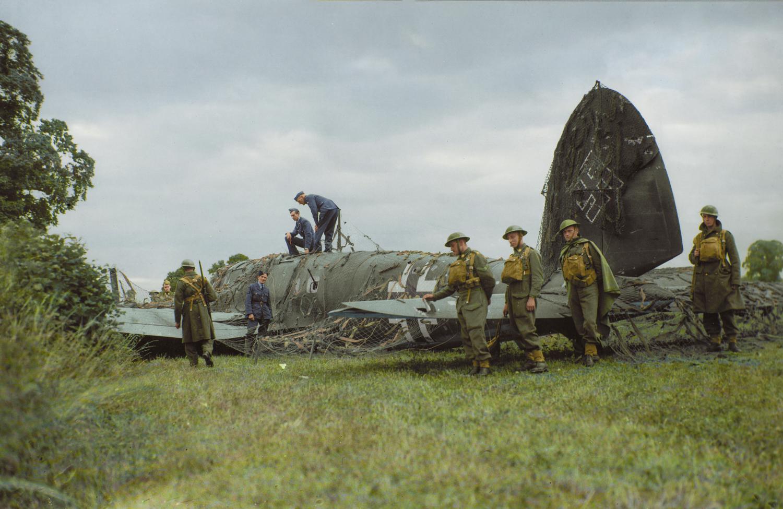 He 111 shot down